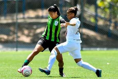 As meninas de Galo e Coelho farão clássico nesta terça-feira, 17, na Vila Olímpica-(Mourão Panda/América-MG)