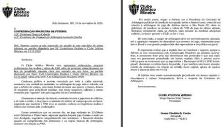Cópia do ofício enviado à CBF para Rogério Caboclo e Leonardo Gaciba-(Reprodução)