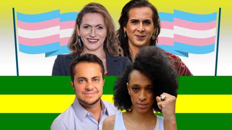 Acima, Linda Brasil e Duda Salabert; abaixo, Thammy Miranda e Érika Hilton: vitória contra o preconceito e em defesa da diversidade sexual