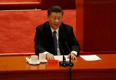 Presidente da China, Xi Jinping, em Pequim 23/10/2020 REUTERS/Carlos Garcia Rawlins