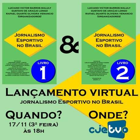 Dois livros sobre Jornalismo Esportivo no Brasil: no livro 2 está o capítulo sobre Fórmula 1.