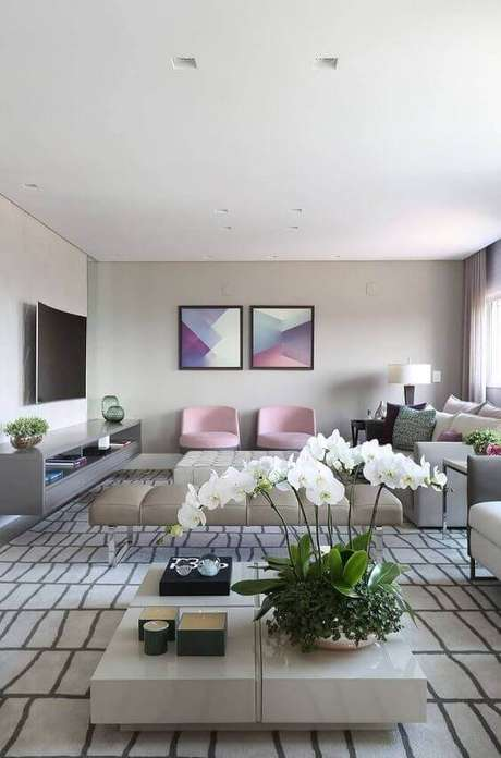 3. Casa organizada e sala de estar linda – Via: Revista Vd