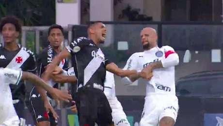Felipe Melo foi denunciado por chave de braço em vascaíno