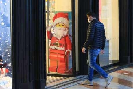 Vitrine de Natal em Milão