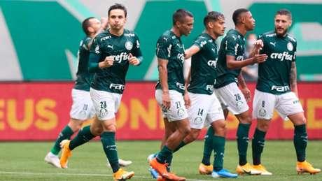 Palmeiras tem três gols de vantagem após vencer no Allianz Parque por 3 a 0 (Foto: Cesar Greco/Palmeiras)