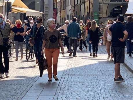 Movimentação em Bolzano, capital da província homônima