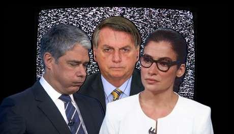 'Deu ruim': Bonner, Bolsonaro e Renata enfrentaram imprevistos com algumas horas de diferença quando falavam do mesmo assunto