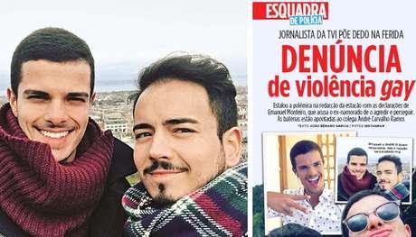 Emanuel Monteiro (à esquerda) e André Carvalho Ramos continuam a trabalhar no mesmo canal, mas não mantêm nenhum contato