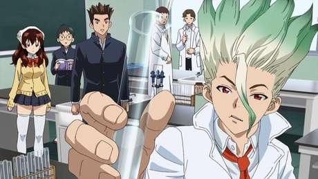 Dr Stone é um Naruto que é uma verdadeira declaração de amor à Ciência. Assista!
