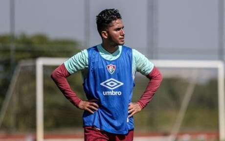 Igor Julião em treinamento do Fluminense no CT Carlos Castilho (Foto: Lucas Merçon/Fluminese)
