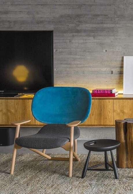 5. Leve em consideração o estilo de decoração do seu ambiente na hora de escolher a poltrona colorida – Foto: Futurist Architecture