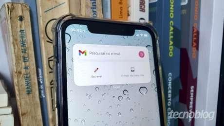 Widget do Gmail para iOS 14 (Imagem: Bruno Gall De Blasi/Tecnoblog)