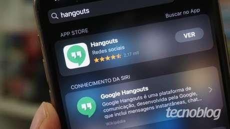 Google Hangouts (Imagem: André Fogaça/Tecnoblog)
