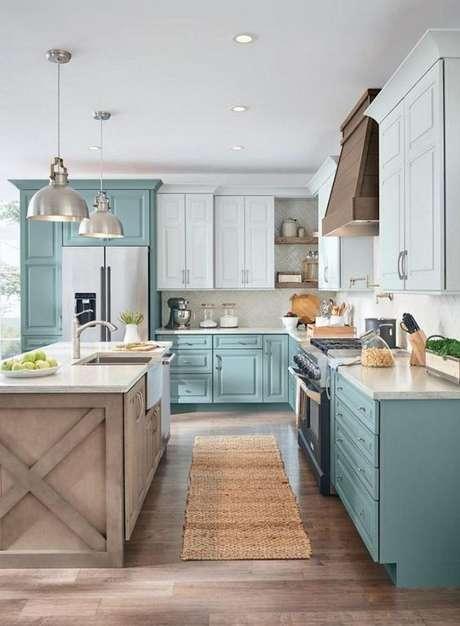 15. Cozinha moderna com passadeira estampada – Via: The Cottage Market