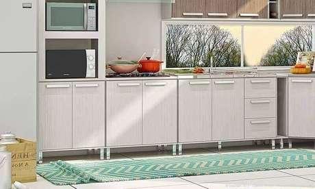 59. Passadeira para cozinha com estampa ziguezague – Via: Lojas KD