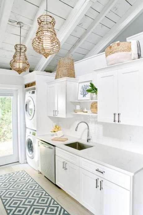 4. Passadeira para cozinha estampada – Via: Houzz