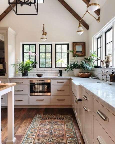 45. Passadeira para cozinha estampada moderna – Via: LizMarie