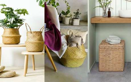 Cesto de palha: 7 ideias práticas para a decoração e organização da casa