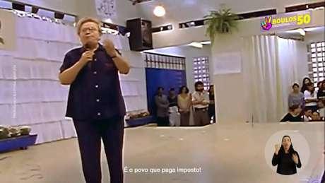 Vídeo de Luiza Erundina (PSOL), na época em que foi prefeita na capital, recuperado na primeira propaganda eleitoral do segundo turno.