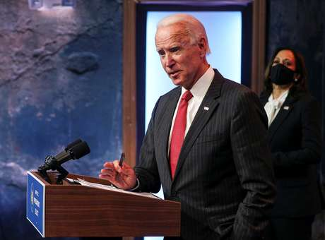 Presidente eleito dos EUA, Joe Biden, em Wilmington, Delaware 19/11/2020 REUTERS/Tom Brenner