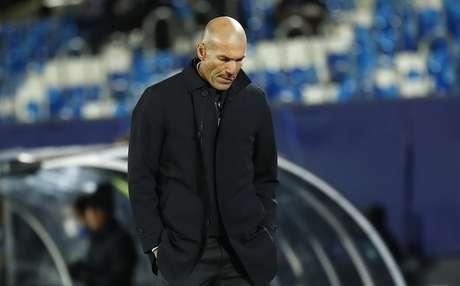 Técnico do Real Madrid, Zinedine Zidane  03/11/2020 REUTERS/Juan Medina