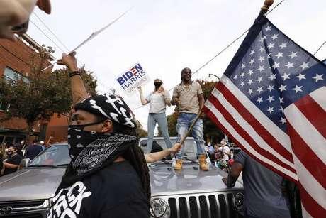 Apoiadores de Biden em Atlanta, cidade mais populosa da Geórgia