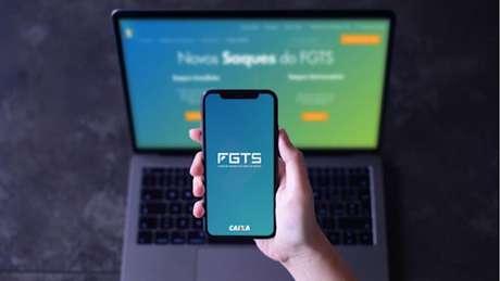 Aplicativo do FGTS (Imagem: Divulgação/Caixa)