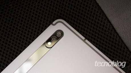 Câmeras do Galaxy Tab S7 (imagem: Emerson Alecrim/Tecnoblog)