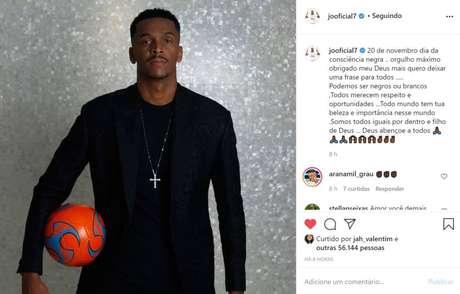 Jô se manifestou em seu perfil no Instagram (Foto: Reprodução)