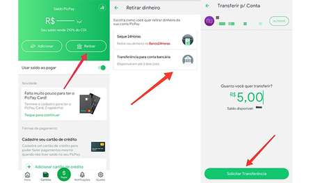 Como transferir dinheiro no PicPay (Imagem: Reprodução/PicPay)