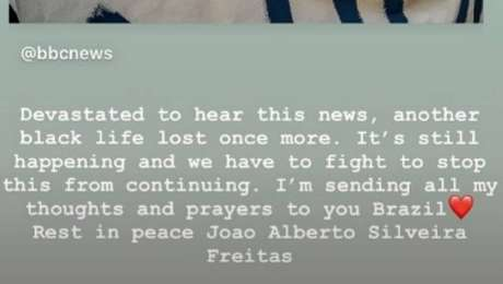 Lewis Hamilton se manifesta sobre morte em Porto Alegre