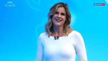 Janaína Xavier é apresentadora do 'SporTV News' (Foto: Reprodução/SporTV)