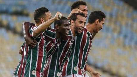 Luiz Henrique foi um dos jogadores da base utilizados pelo Fluminense (Foto: LUCAS MERÇON / FLUMINENSE F.C.)