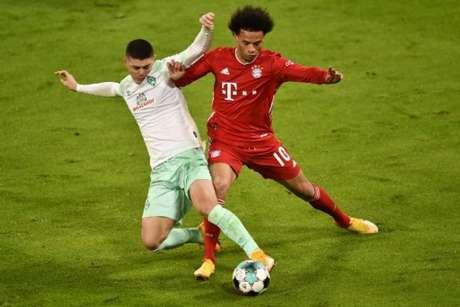 Bayern e Werder Bremen ficaram no empate (Foto: LUKAS BARTH / POOL / AFP)