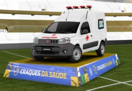 A Fiat Fiorino Ambulância é equipada com itens de série específicos para o transporte seguro e rápido de pacientes (Foto: reprodução/CBF)
