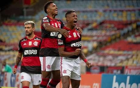 Bruno Henrique marcou o primeiro gol do Flamengo no Maracanã (Foto: Alexandre Vidal / Flamengo)
