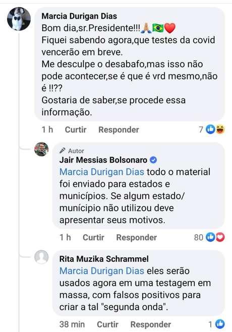 Bolsonaro atribuiu culpa a Estados e municípios em publicação no Facebook