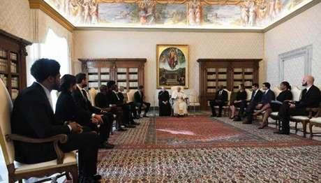 Papa Francisco se reuniu com jogadores da NBA no Vaticano