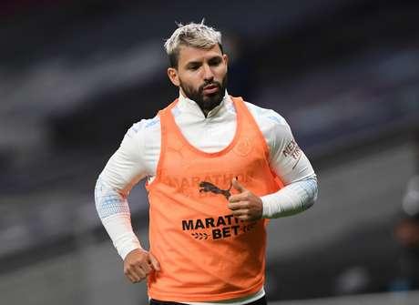 Atacante Sergio Aguero  21/11/2020 Pool via REUTERS/Neil Hall