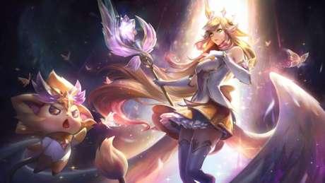 Soraka Guardiã Estelar Edição de Prestígio (Imagem: Divulgação/League of Legends)