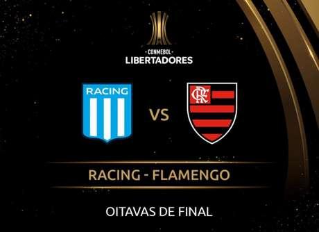 Partida no El Cilindro, em Buenos Aires, abre o confronto das oitavas da Libertadores entre Racing e Flamengo