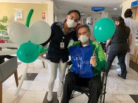 Paulo Pelaipe, dirigente do Coritiba, foi liberado pelos médicos após ser diagnosticado com Covid-19 (Divulgação/ Instagram Coritiba)