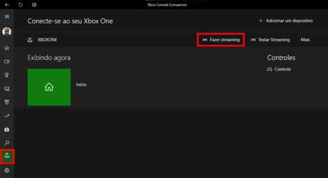 Tela do Xbox Console Companion (Imagem: Reprodução/Microsoft)