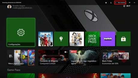 Tela do Xbox One no Xbox Console Companion (Imagem: Reprodução/Microsoft)