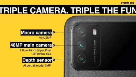 Câmera do Poco M3 (Imagem: Divulgação/Poco)