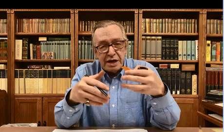 O escritor Olavo de Carvalho, guru do bolsonarismo