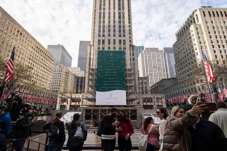 Rockefeller Center, em Nova York  21/11/2020 REUTERS/Jeenah Moon