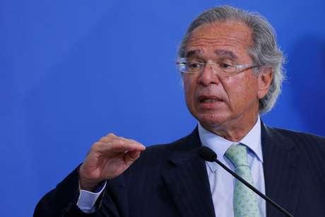 Ministro da Economia, Paulo Guedes, fala em evento no Palácio do Planalto 19/08/2020 REUTERS/Adriano Machado
