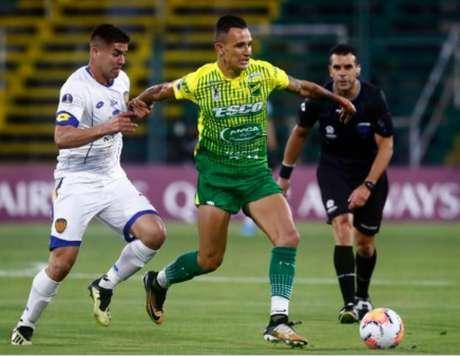 O Defensa y Justicia passou pelos paraguaios do Deportivo Luqueño na fase anterior (Divulgação/Conmebol)