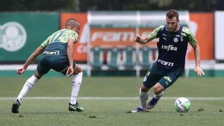 O Palmeiras tem diversas opções para a zaga em seu elenco (Foto: Cesar Greco/Agência Palmeiras)